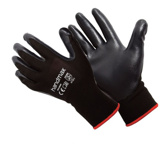 Michigan-L Handmax Michigan Nitrile Glove Black Size L (9)